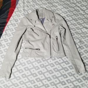 BLANKNYC Gray Faux Leather Jacket